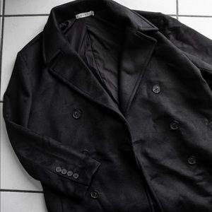 mnml Wool Long Coat (Black)